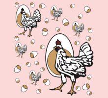 Retro Chickens by cesstrelle