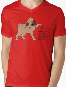 If it's not pugs, then it's the bomb Mens V-Neck T-Shirt