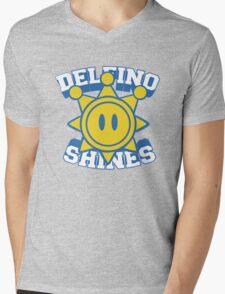 Delfino Shines - Colour Mens V-Neck T-Shirt