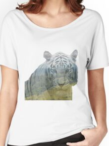 Siberian Tiger - Landscape Women's Relaxed Fit T-Shirt