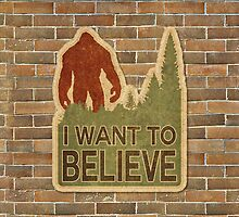 Bigfoot Believe by cesstrelle