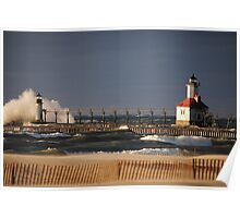 St Joseph North Pier Lighthouse - 2 Poster