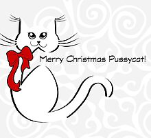 Merry Christmas Pussycat - Holiday - Card by red addiction
