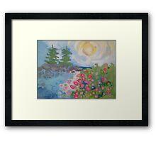 Isle Au Haut Rose Framed Print