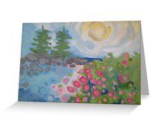 Isle Au Haut Rose Greeting Card