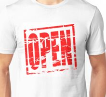 Open red rubber stamp effect Unisex T-Shirt