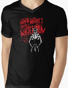 Rorschach - Who watches the WATCHMEN Mens V-Neck T-Shirt