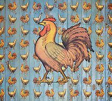 Vintage Roosters by cesstrelle