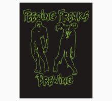 Neon Green and Black Logo Sticker by FeedingFreaks