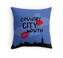 country heart city mouth (one) Throw Pillow