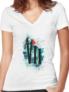 Remembering Aerith (Light) Women's Fitted V-Neck T-Shirt
