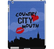 country heart city mouth (one) iPad Case/Skin