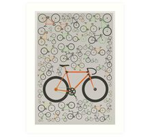 Fixed gear bikes Art Print