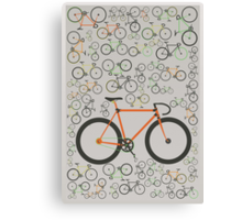 Fixed gear bikes Canvas Print
