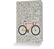 Fixed gear bikes Greeting Card