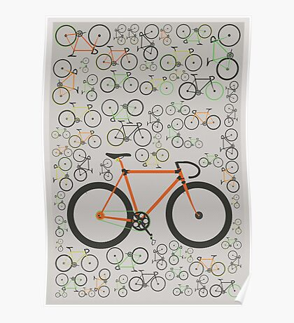 Fixed gear bikes Poster