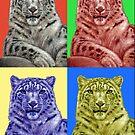 Snow Leopard PopArt by Nicole Zeug