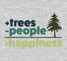 Earth Day Design +trees -people =happiness Baby Tee
