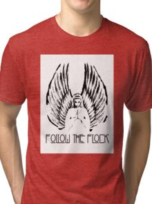 Follow The Flock Angel Tee Tri-blend T-Shirt