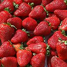 Strawberries at the market by Arie Koene