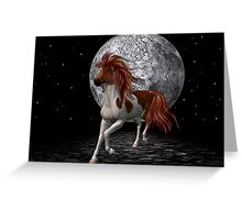 Stallion by the light of the moon Greeting Card