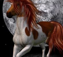 Stallion by the light of the moon Sticker