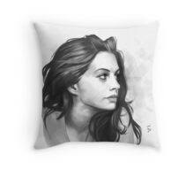 Anne Hathaway - Digital Painting illustration Throw Pillow