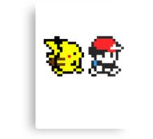 Pokemon Ash and Pikachu Metal Print