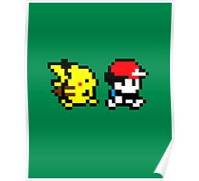 Pokemon Ash and Pikachu Poster