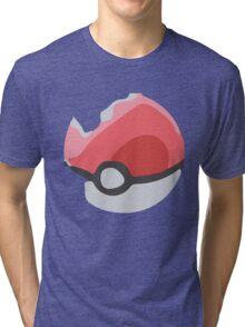 Minimalist Poké Ball Tri-blend T-Shirt