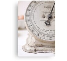 For the Baker Vintage kitchen scale  Canvas Print