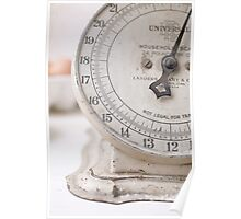 For the Baker Vintage kitchen scale  Poster