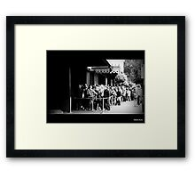 Early morning queue@ Madame Tussauds. London  Framed Print