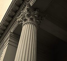 Columns on an old New England church by Edward Fielding