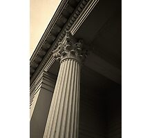 Columns on an old New England church Photographic Print