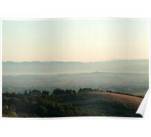 Morning Light on Hill Poster