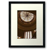 art deco ceiling in sepia  Framed Print