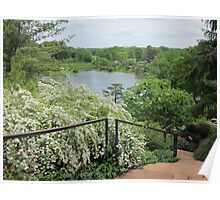 View from the Top of the Waterfall Garden Poster