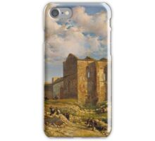 Ramon Marti i Alsina, Barcelona,  Ruins of the Church of the Holy Sepulchre iPhone Case/Skin