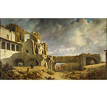 Ramon Marti i Alsina, Barcelona, Ruins of the Palace Photographic Print