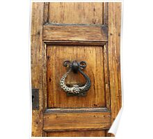 Old door knocker Poster