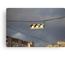hanging traffic light Canvas Print