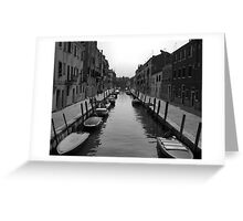 "Typical ""Street"" in Venice Greeting Card"