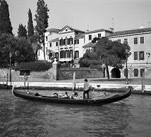 Gondola, Venice by Rodney Johnson