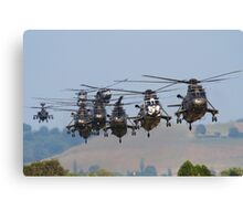 Helicopter Approach Canvas Print