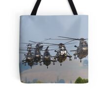 Helicopter Approach Tote Bag