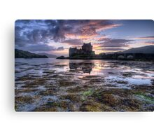Eilean Donan Castle at sunset Canvas Print