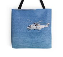 Navy Helicopter and Ship Tote Bag