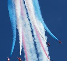 Red Arrows Break by Mike Rivett