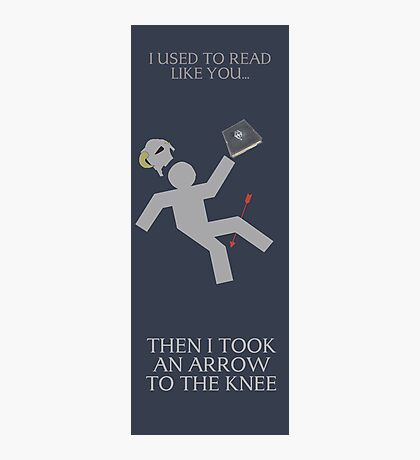 Arrow in the knee book mark Photographic Print